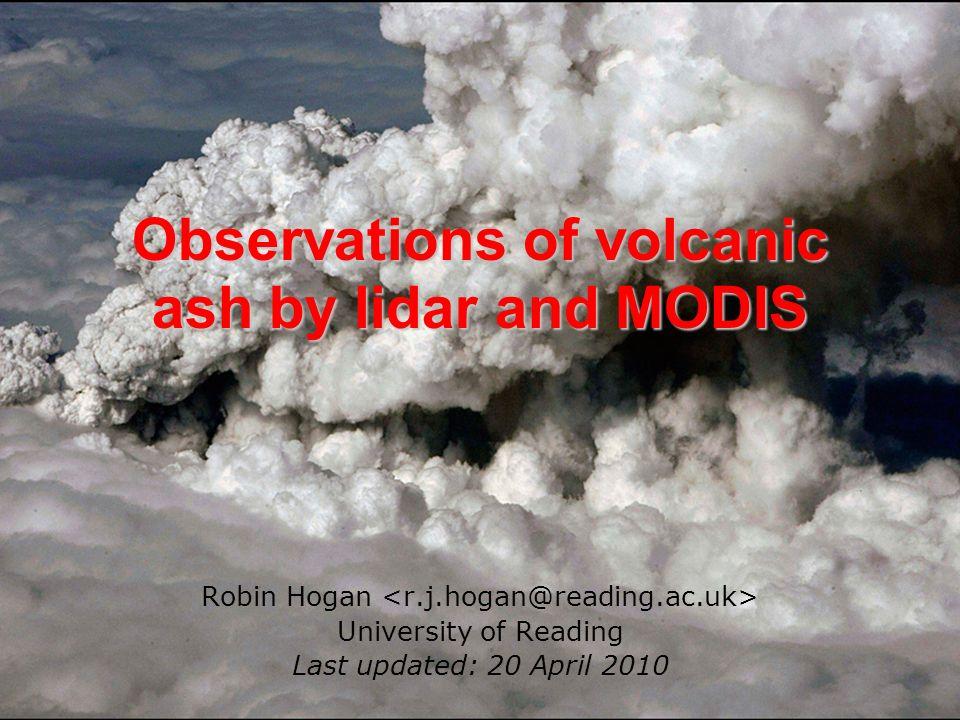 Aerosol particles (PM10s) No convincing sign of ash