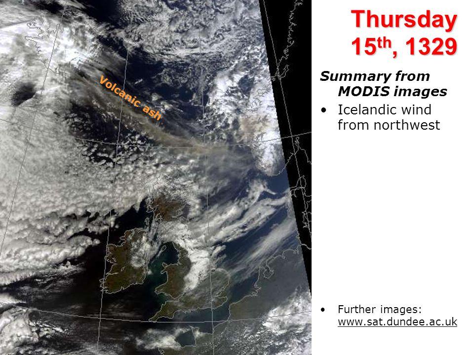 Chilbolton UV lidar: 16 April Descending volcanic ash.