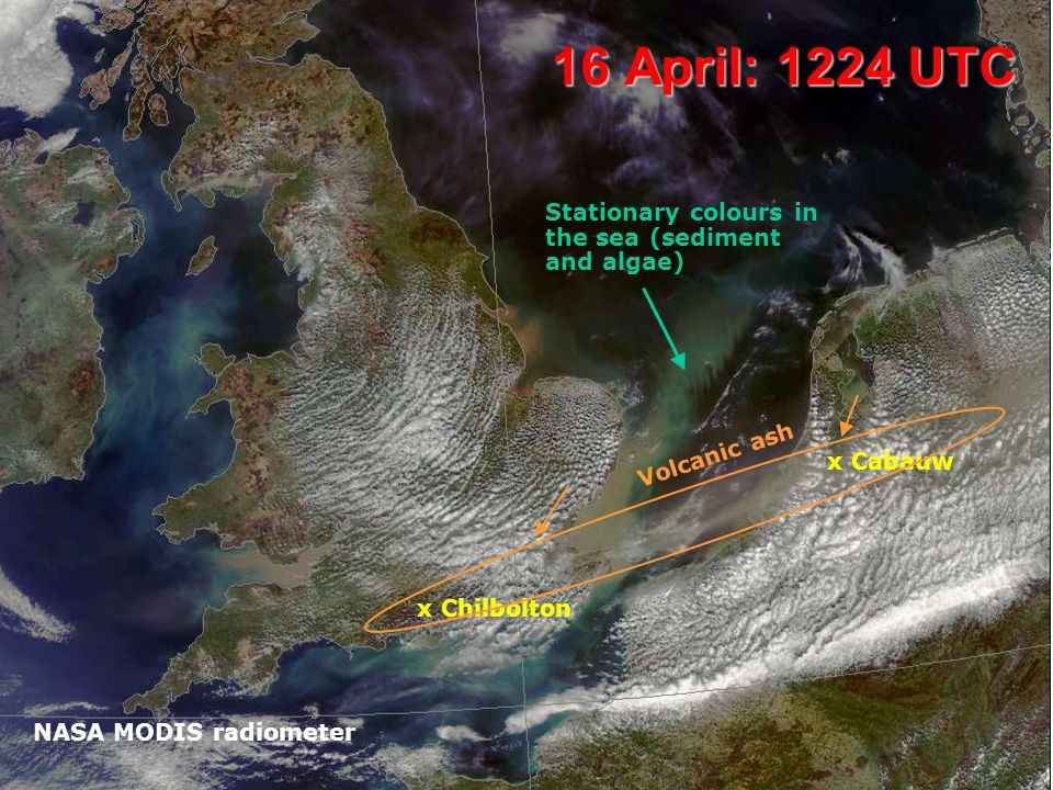 Chilbolton UV lidar, 17 April Normal aerosol particles in the boundary layer: no further sign of volcanic ash…