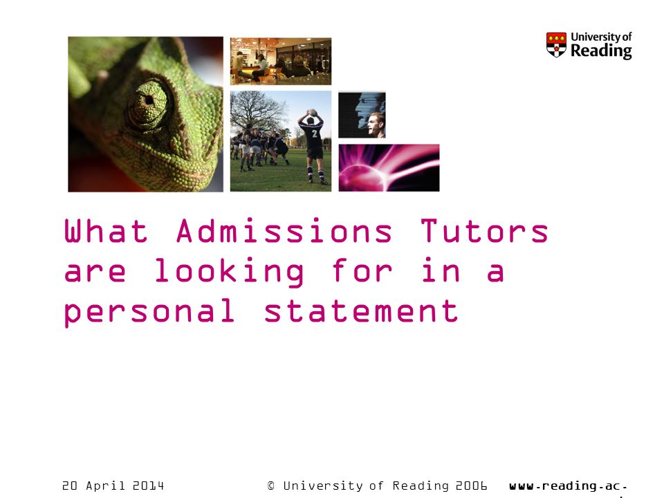 © University of Reading 2006www.reading.ac.
