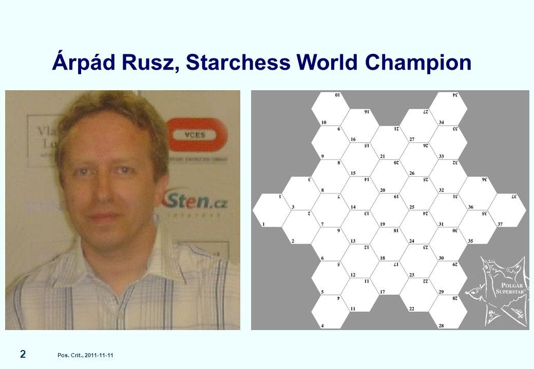 Árpád Rusz, Starchess World Champion Pos. Crit., 2011-11-11 2