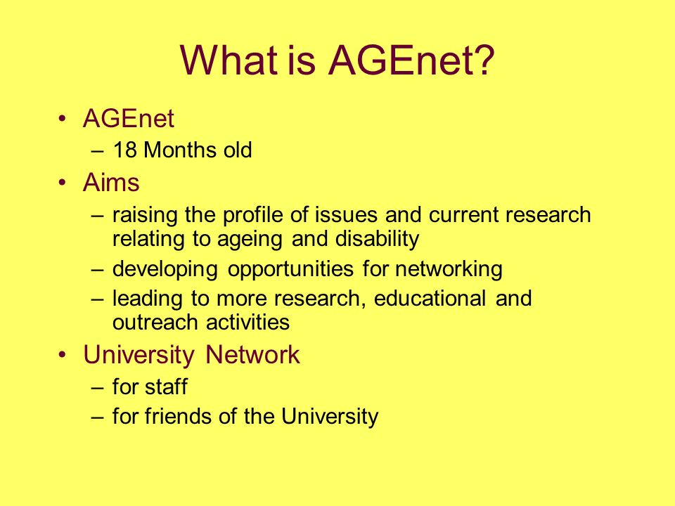 What is AGEnet.