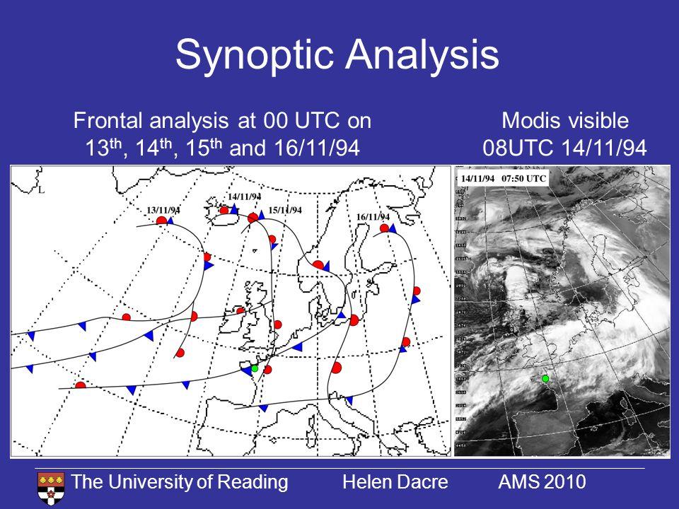 The University of Reading Helen Dacre AMS 2010 Precipitation Fields Convective rain amount 15/10/94 03 UTC Large-scale rain amount 15/10/94 03 UTC