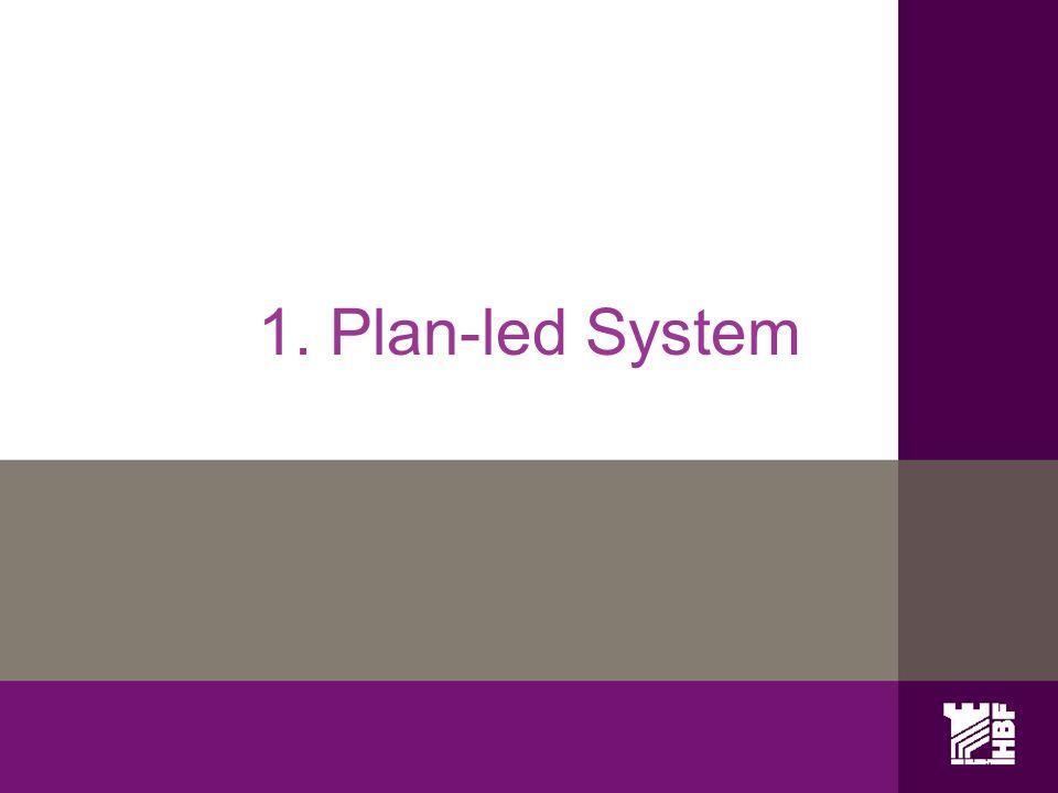 1. Plan-led System