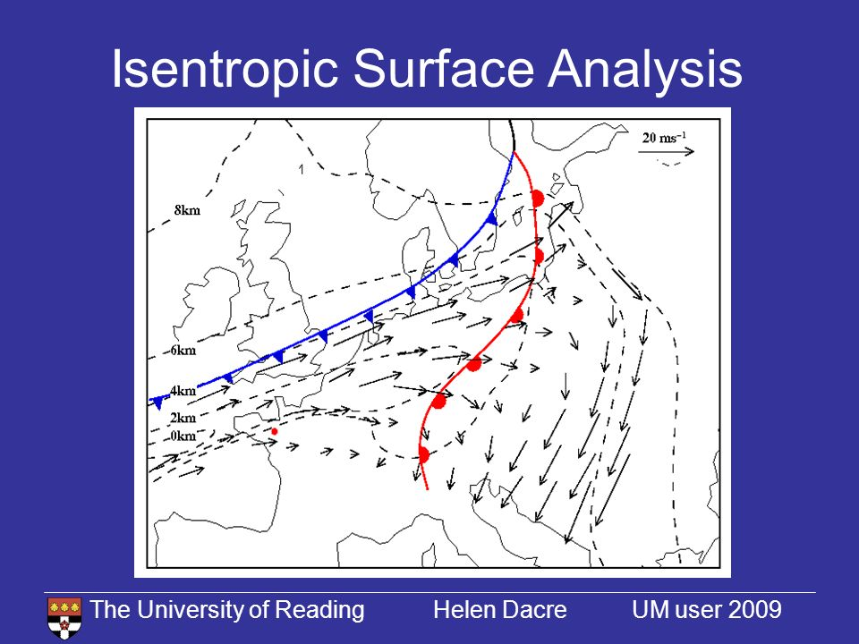 The University of Reading Helen Dacre UM user 2009 Isentropic Surface Analysis