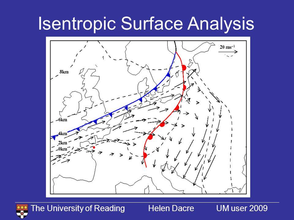 The University of Reading Helen Dacre UM user 2009 Horizontal Tracer Transport 15/11/94 03 UTC16/11/94 03 UTC15/11/94 15 UTC