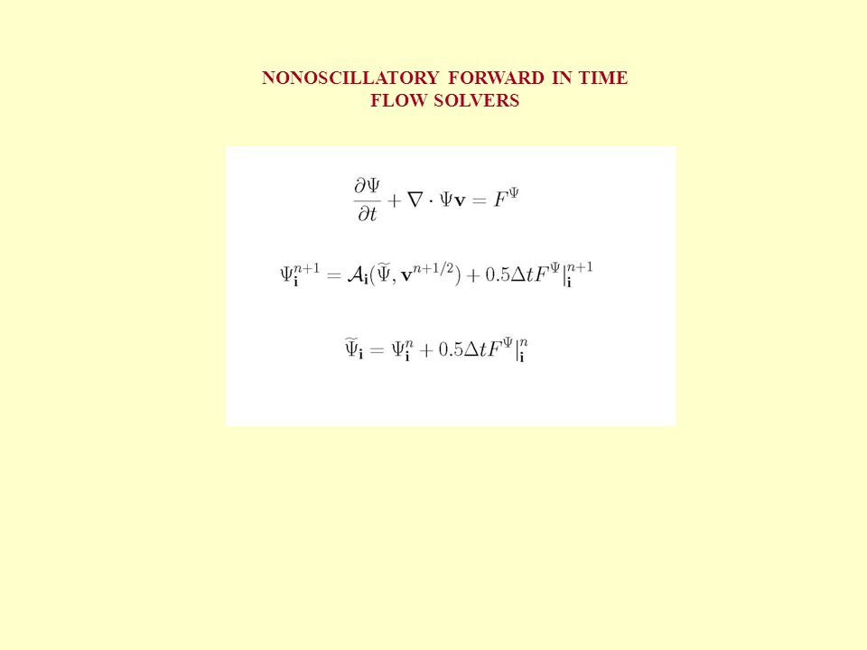 NONOSCILLATORY FORWARD IN TIME FLOW SOLVERS