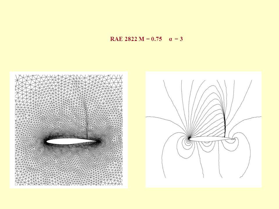 RAE 2822 M = 0.75 α = 3