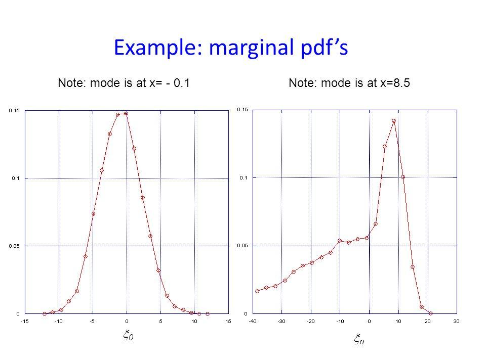Example n+1 = 0.5 n + _________ + n 2 n 1 + e ( n - 7) 0 ~ N(-0.1, 10) Nonlinear model Initial pdf n ~ N(0, 10) Model noise