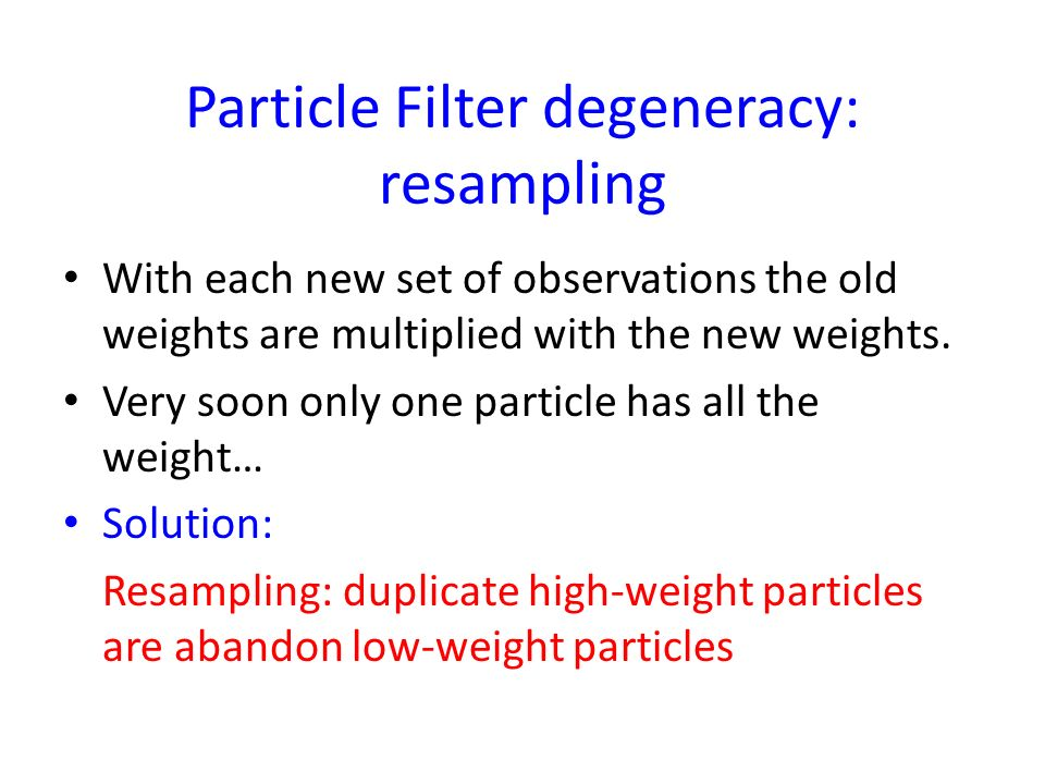 Standard Particle filter
