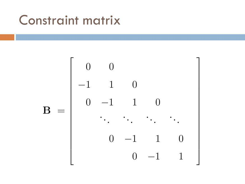 Constraint matrix