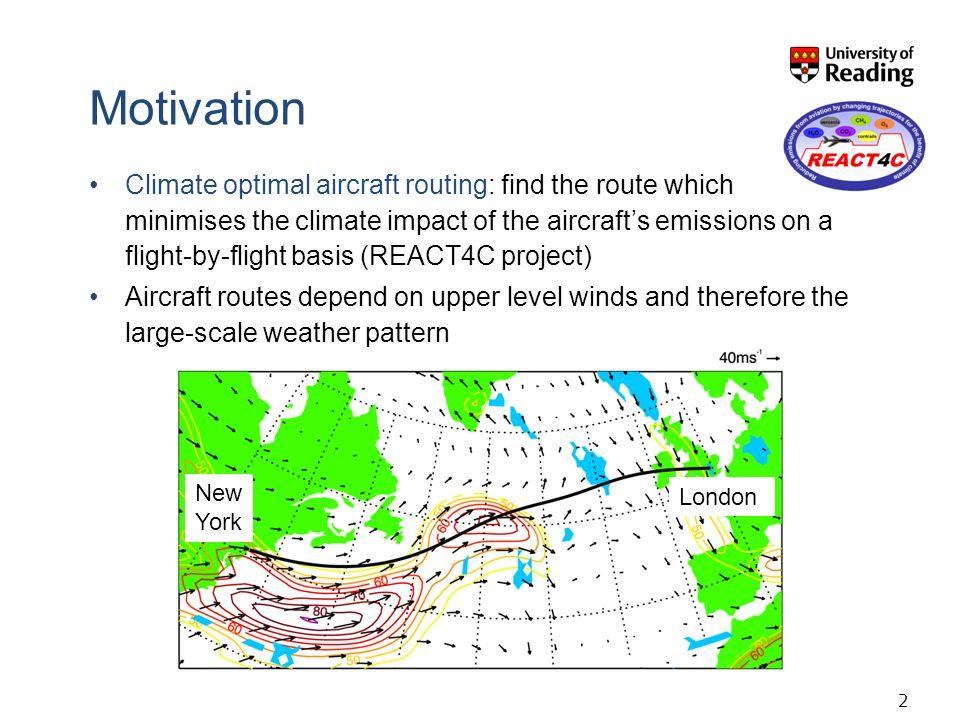 13 Climatological Large-scale weather pattern Individual flight