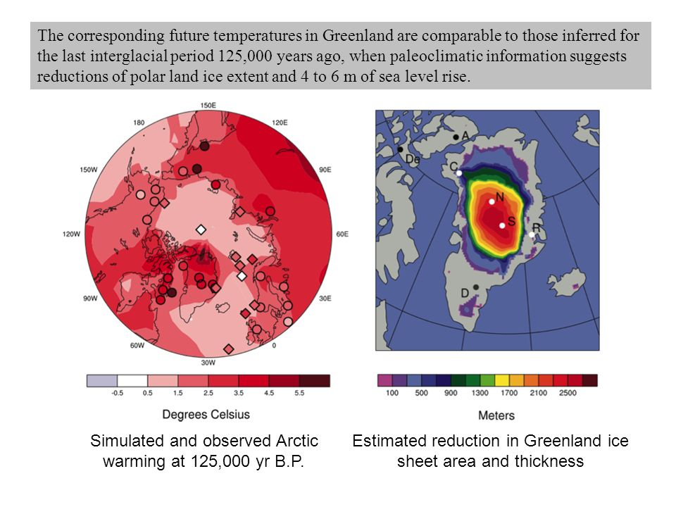 Simulated and observed Arctic warming at 125,000 yr B.P.