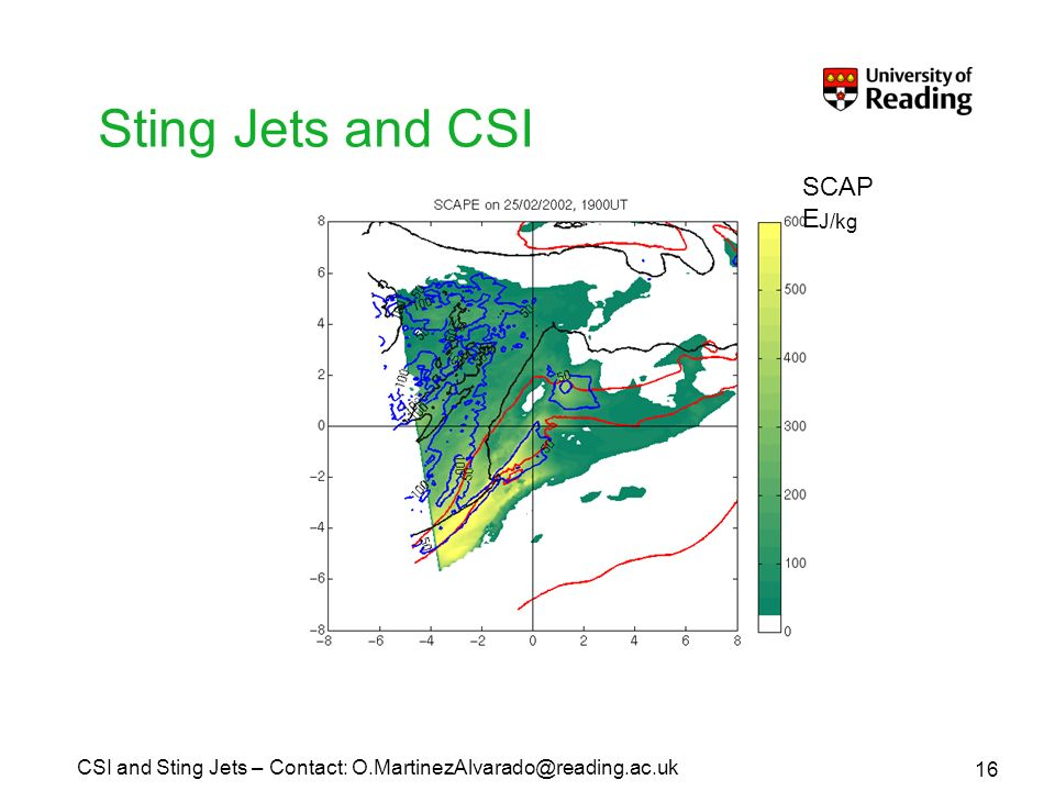 Sting Jets and CSI J/kg SCAP E 16 CSI and Sting Jets – Contact: