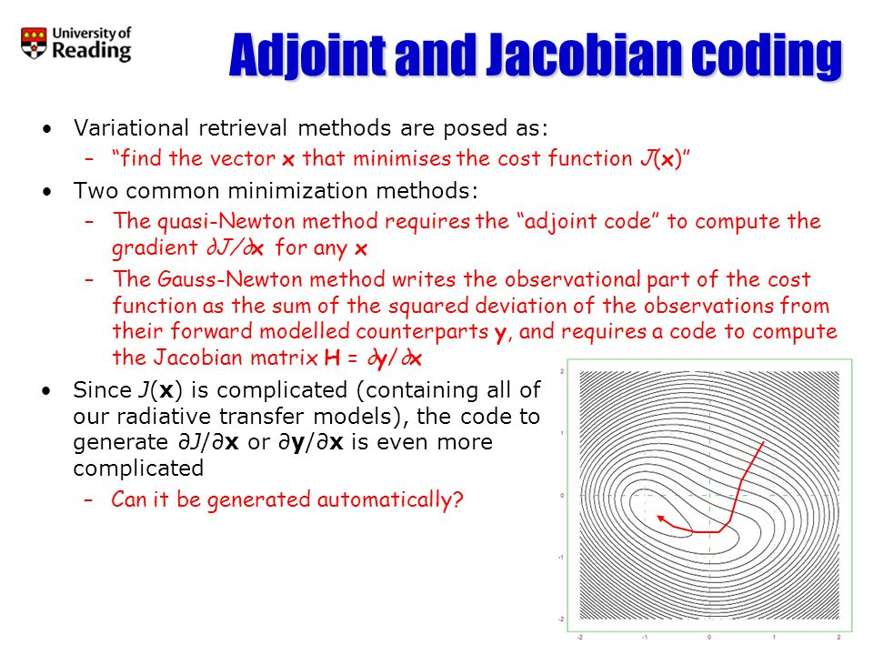 Approaches to adjoint coding Do it by hand (e.g.