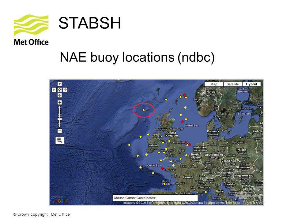© Crown copyright Met Office STABSH NAE buoy locations (ndbc)