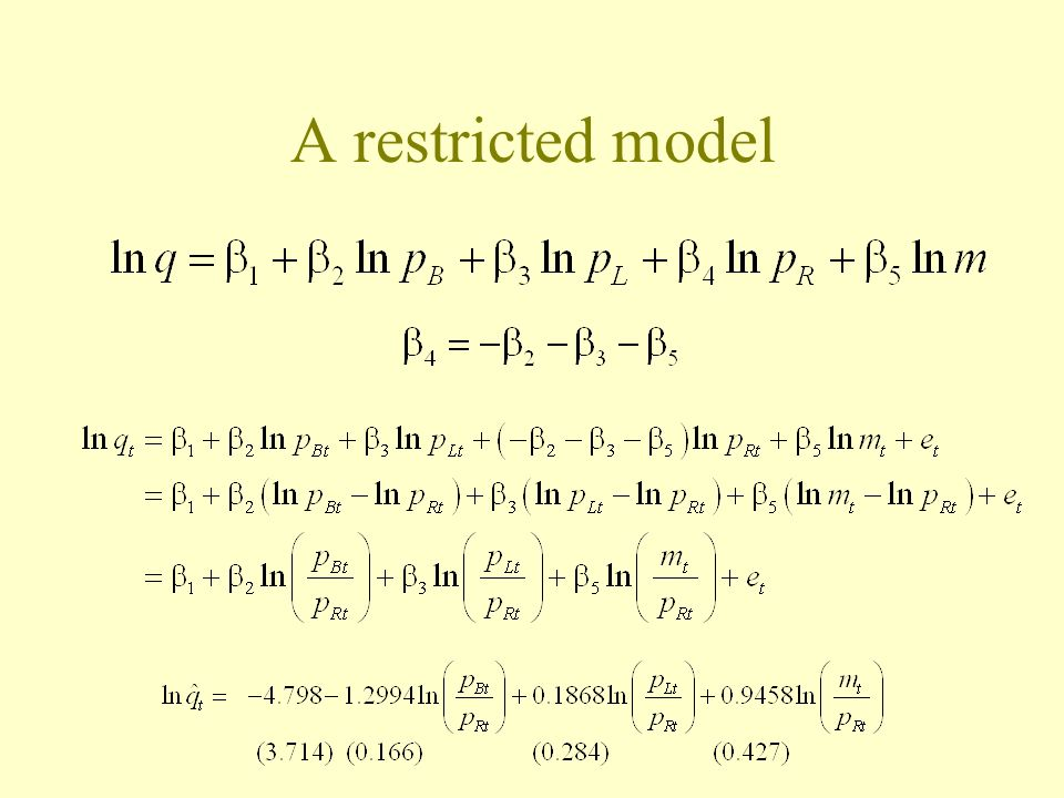 A restricted model