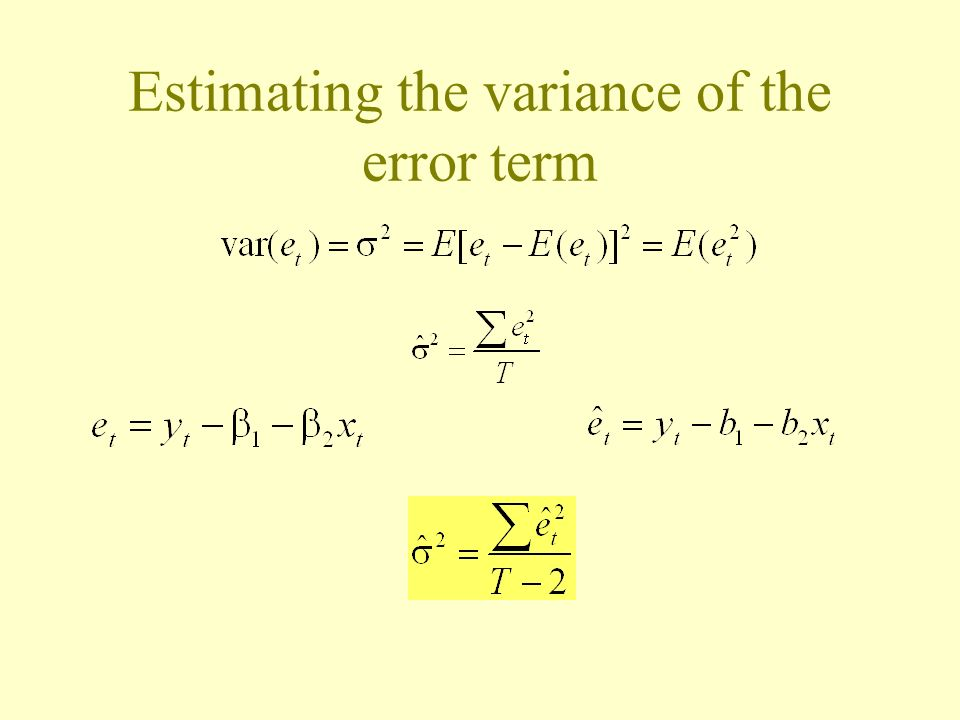 Estimating the variance of the error term