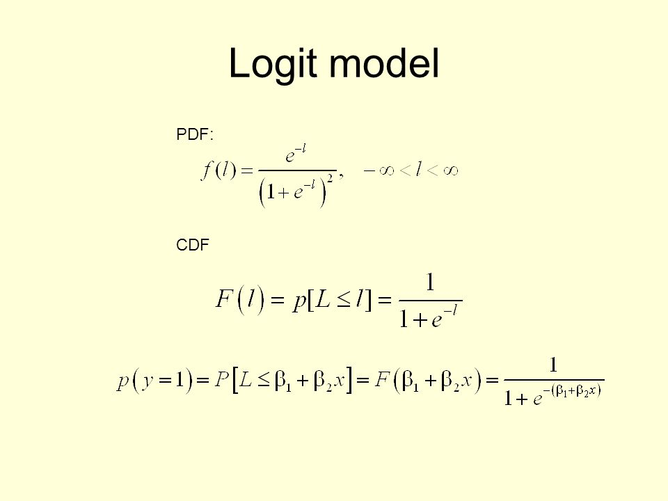 Other Models Multinomial –Influence of individuals attribute on choice of shop.