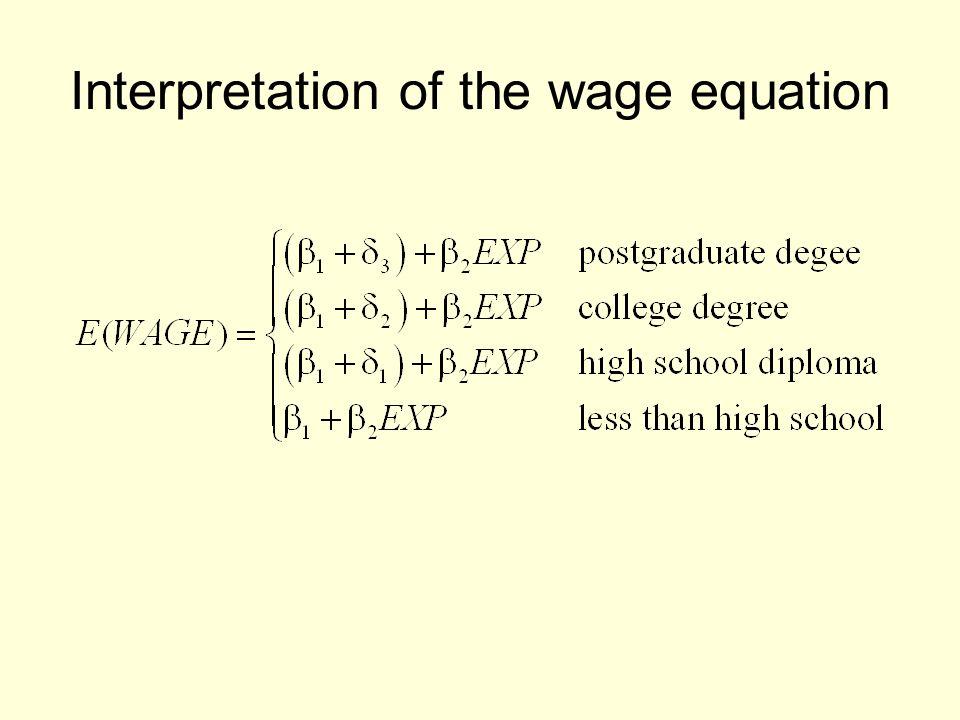 Interpretation of the wage equation