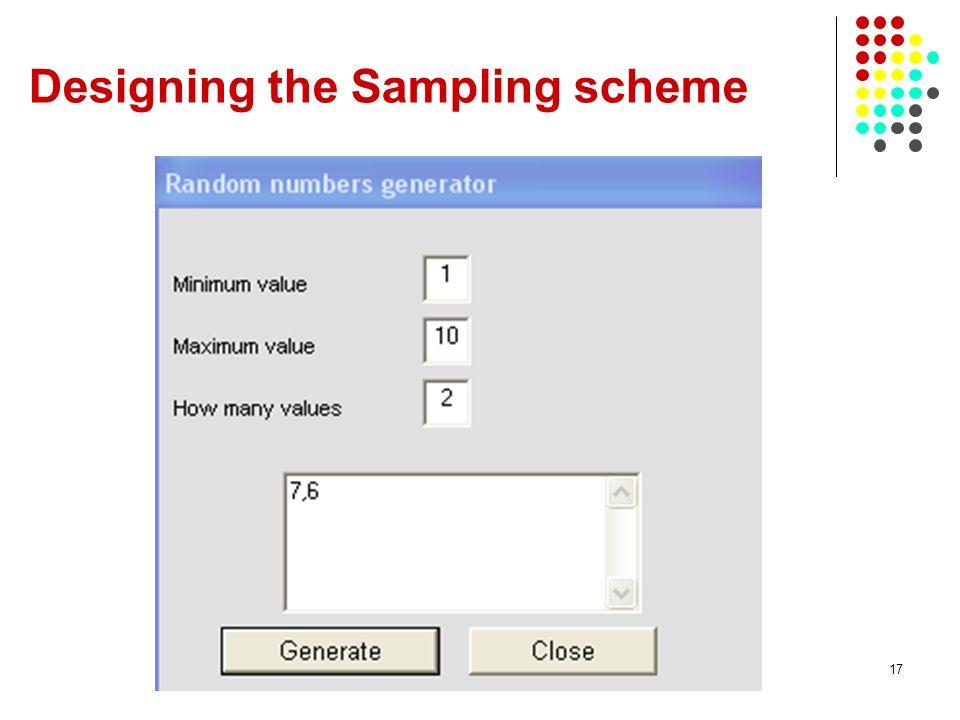 17 Designing the Sampling scheme