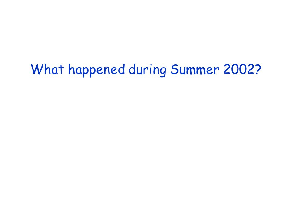 What happened during Summer 2002?