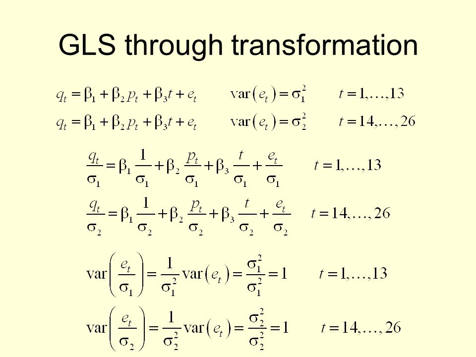 GLS through transformation