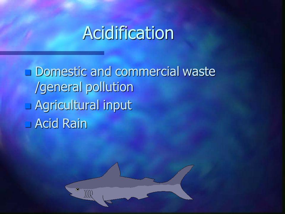 Causes of Aquatic Acidification William Barker