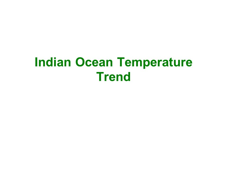 Indian Ocean Temperature Trend