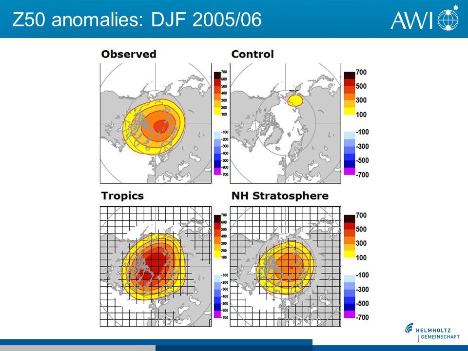Z50 anomalies: DJF 2005/06
