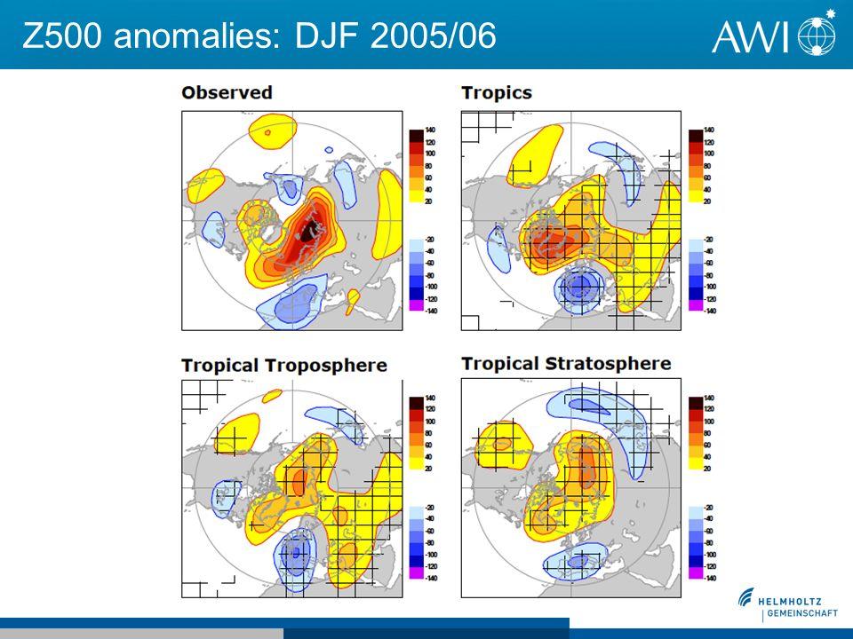 Z500 anomalies: DJF 2005/06