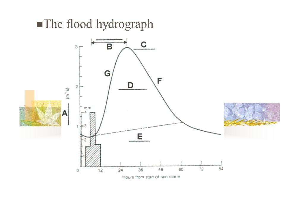 The flood hydrograph