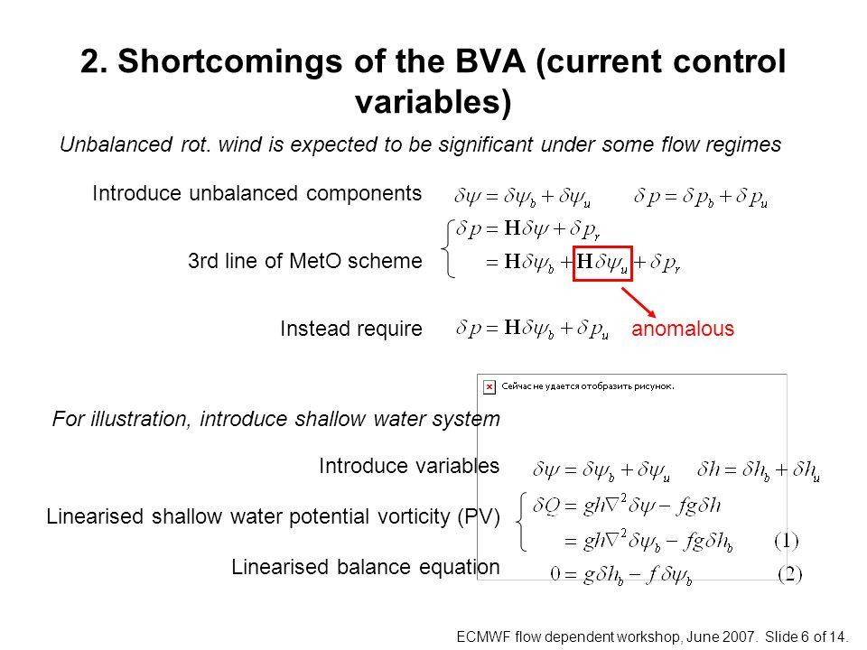 ECMWF flow dependent workshop, June 2007. Slide 6 of 14.