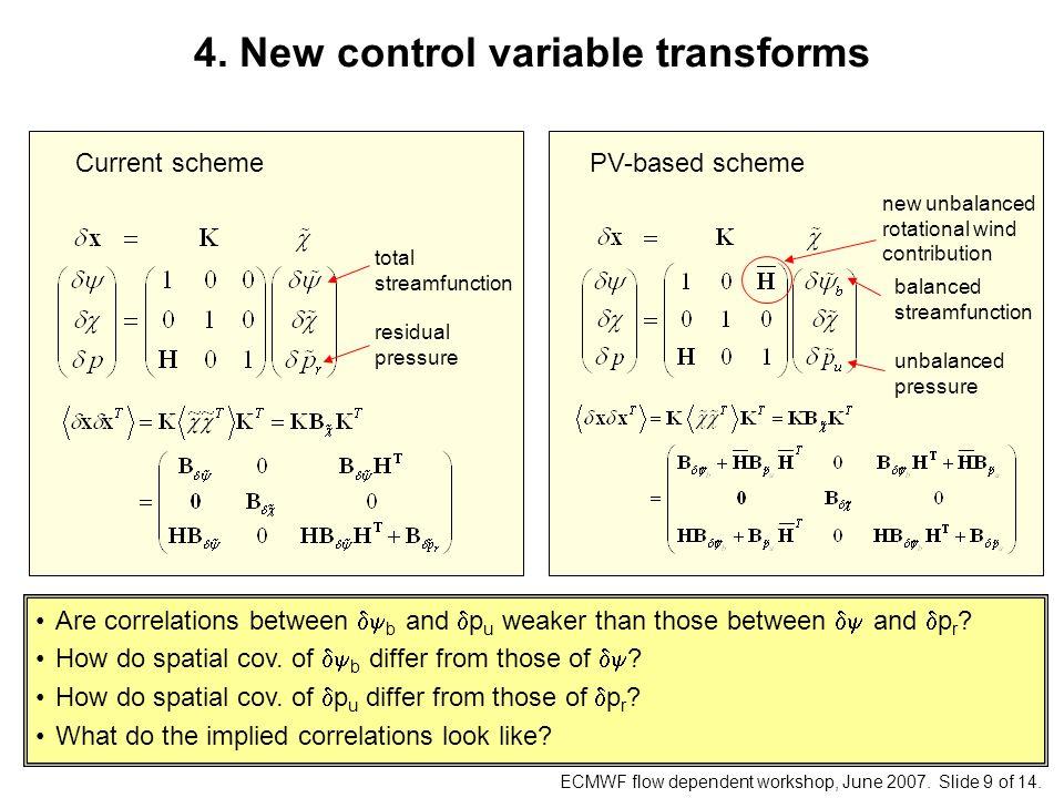 ECMWF flow dependent workshop, June 2007. Slide 9 of 14.