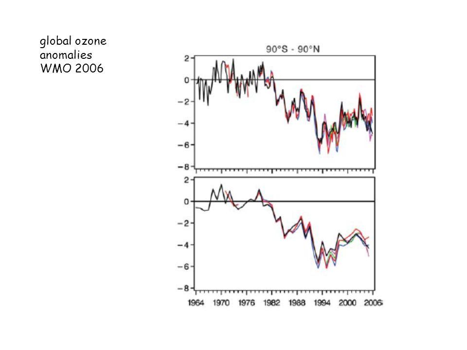 global ozone anomalies WMO 2006