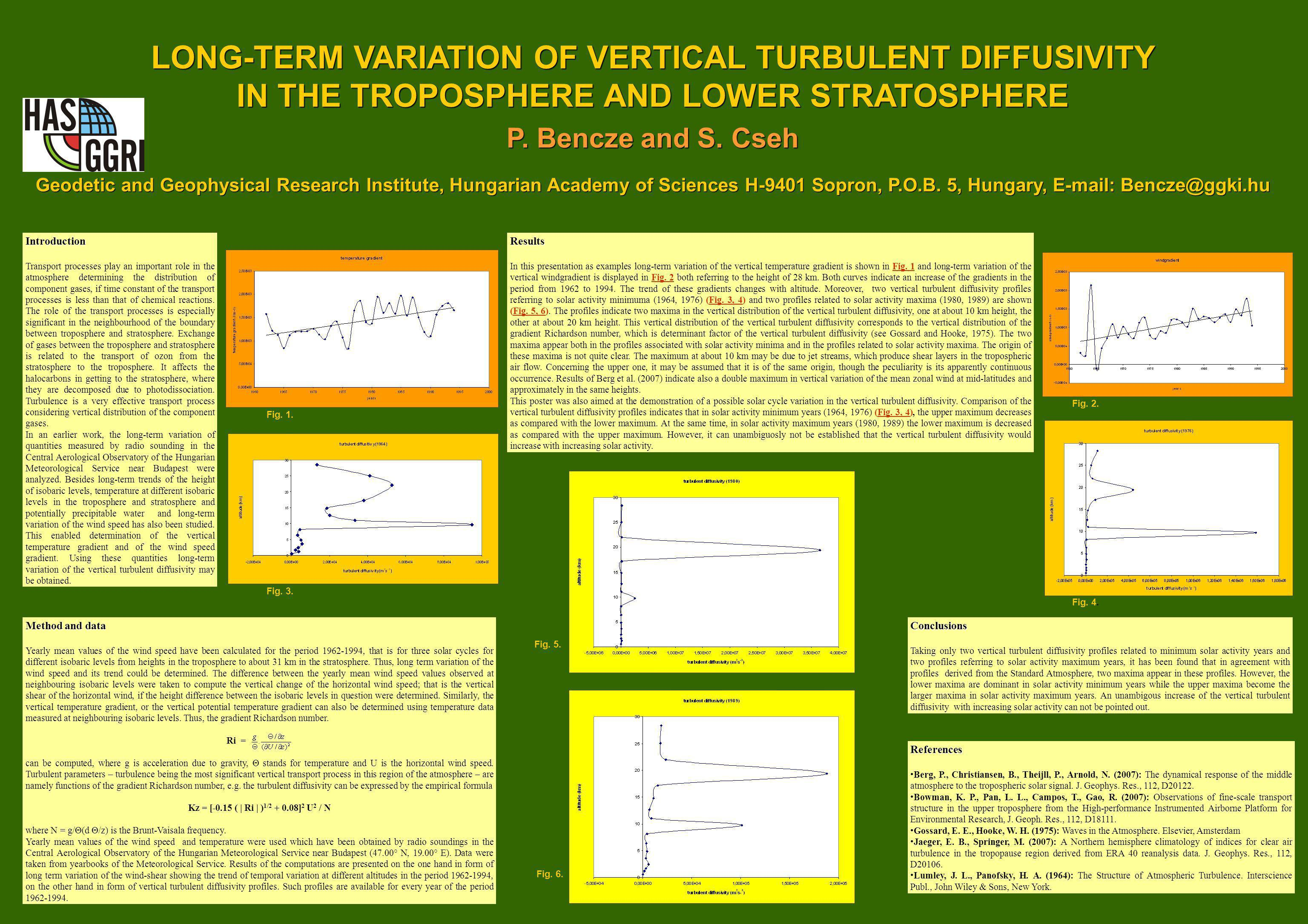 LONG-TERM VARIATION OF VERTICAL TURBULENT DIFFUSIVITY IN THE TROPOSPHERE AND LOWER STRATOSPHERE P.