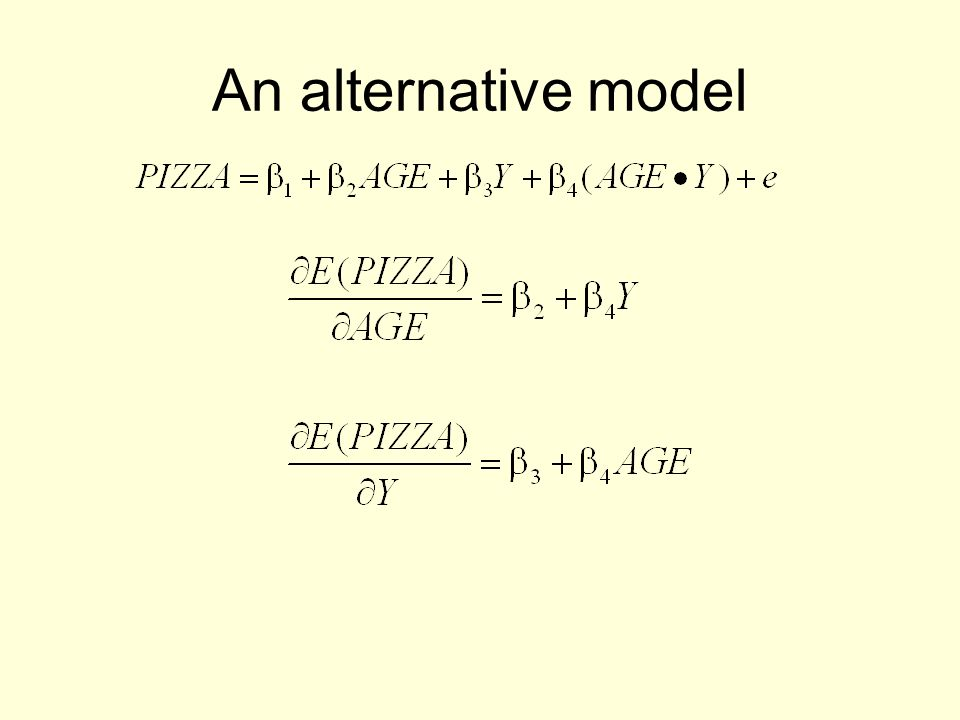 An alternative model
