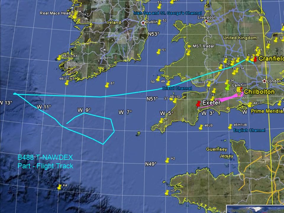 B488 T-NAWDEX Part - Flight Track