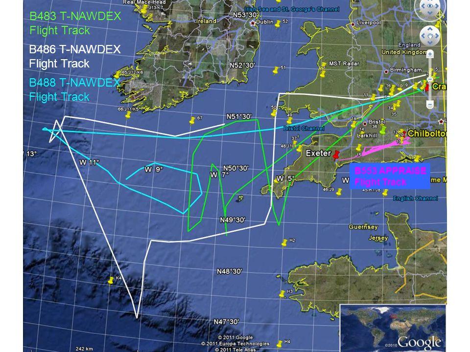 B486 T-NAWDEX Flight Track B483 T-NAWDEX Flight Track B488 T-NAWDEX Flight Track B553 APPRAISE Flight Track