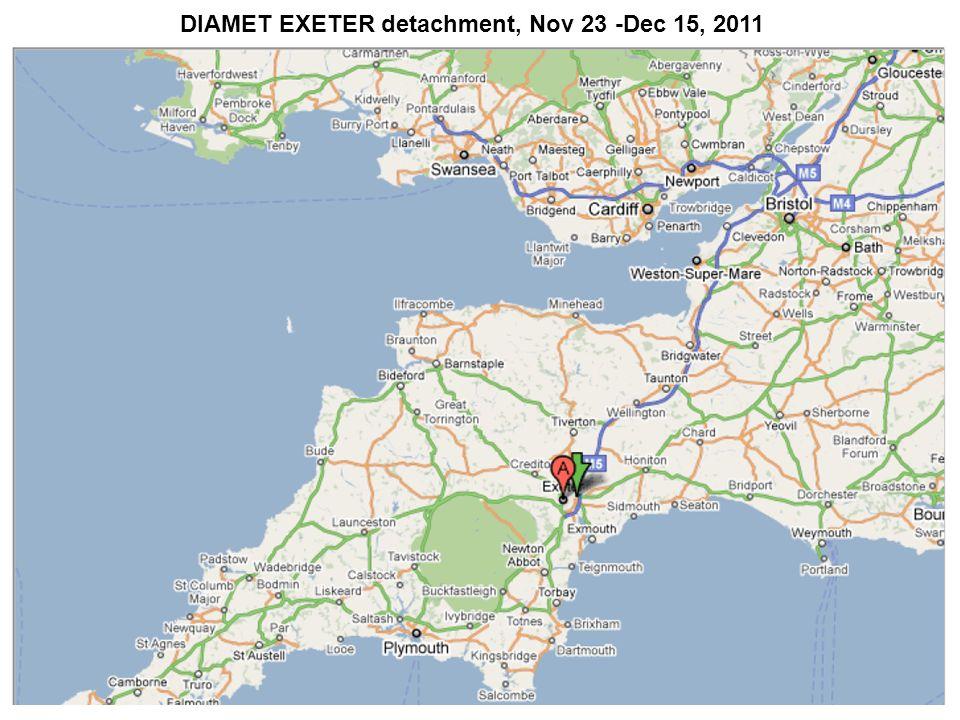 DIAMET EXETER detachment, Nov 23 -Dec 15, 2011