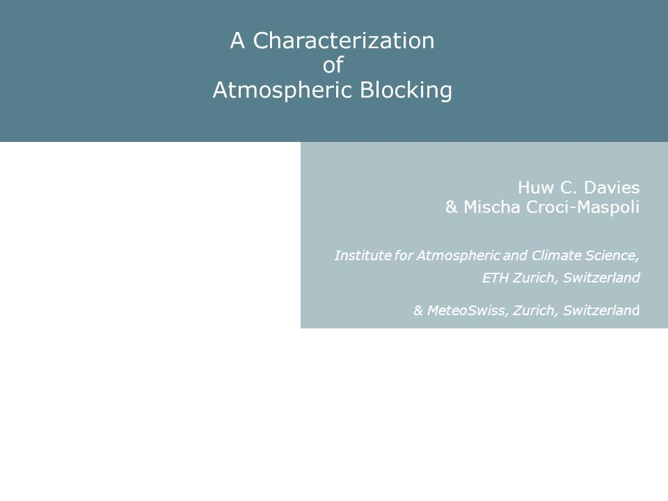 OUTLINE I Spatial Structure - Basis for the characterization II Temporal Features - Credibility of the characterization III Dynamics - Utility of the characterization.