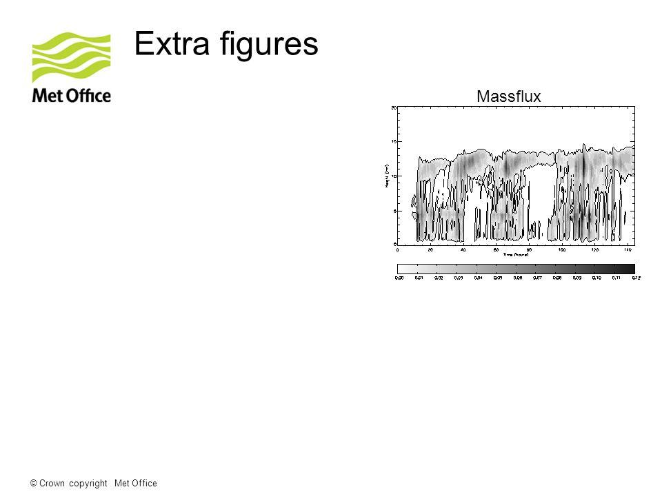 © Crown copyright Met Office Extra figures Massflux