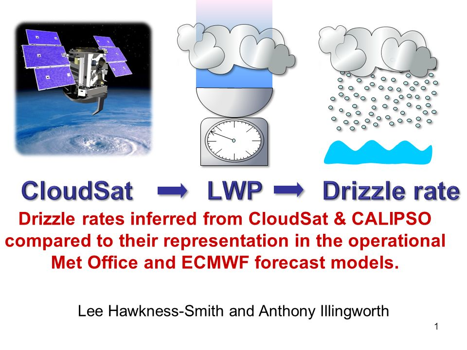 1 Drizzle rates inferred from CloudSat & CALIPSO compared to their representation in the operational Met Office and ECMWF forecast models.