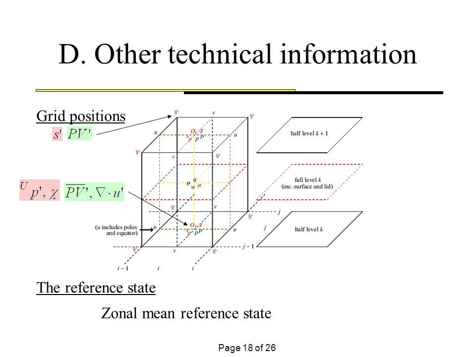 Page 18 of 26 D. Other technical information Grid positions The reference state Zonal mean reference state