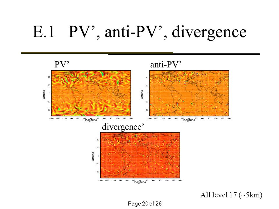 Page 20 of 26 E.1 PV, anti-PV, divergence PV anti-PV divergence All level 17 (~5km)
