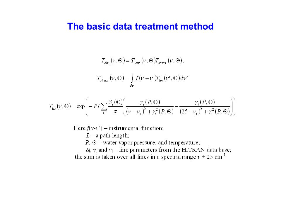 The basic data treatment method