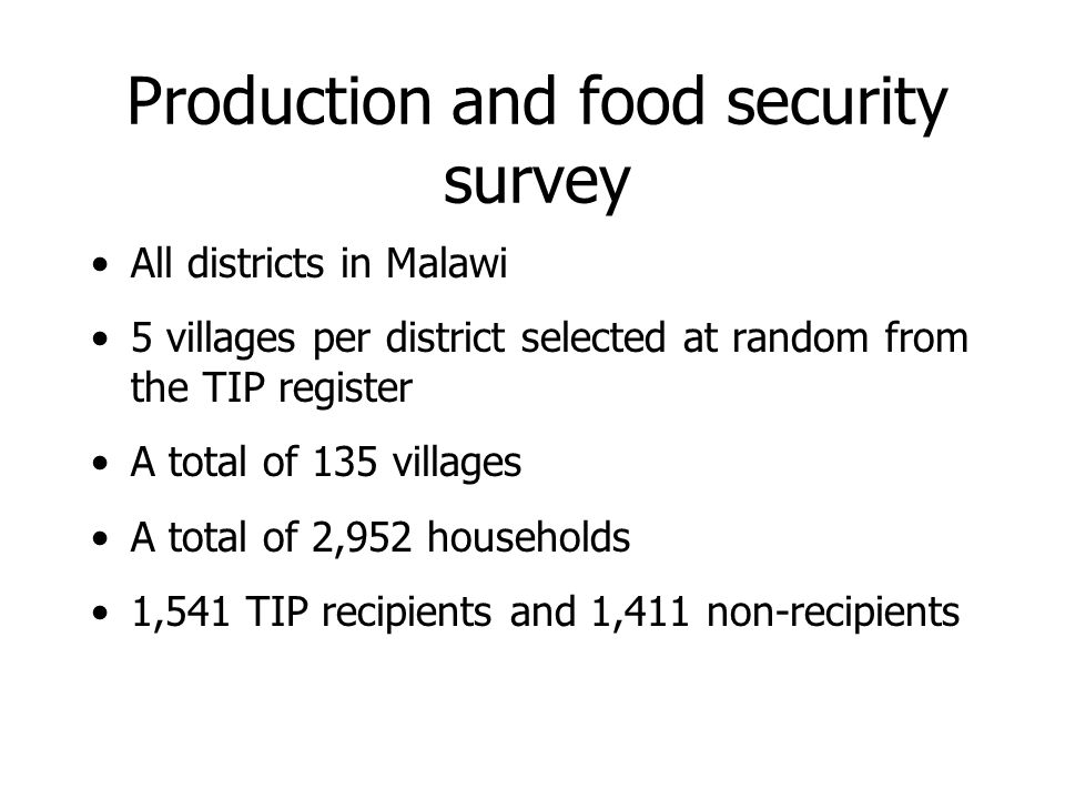 Maize production in the household Reduction in the smallholder maize harvest: 10% 2001-02