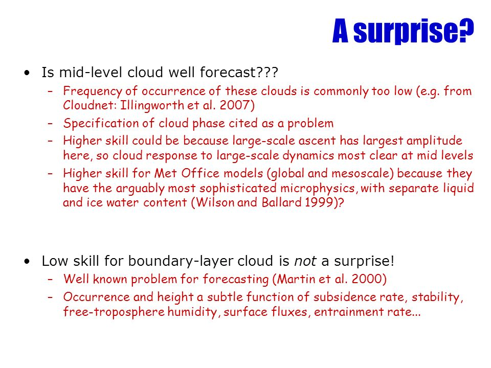 A surprise. Is mid-level cloud well forecast??.