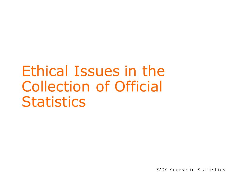 To put your footer here go to View > Header and Footer 2 Introduction This session is directly linked to Session 4 in which we discussed the 10 Principles of Official Statistics.