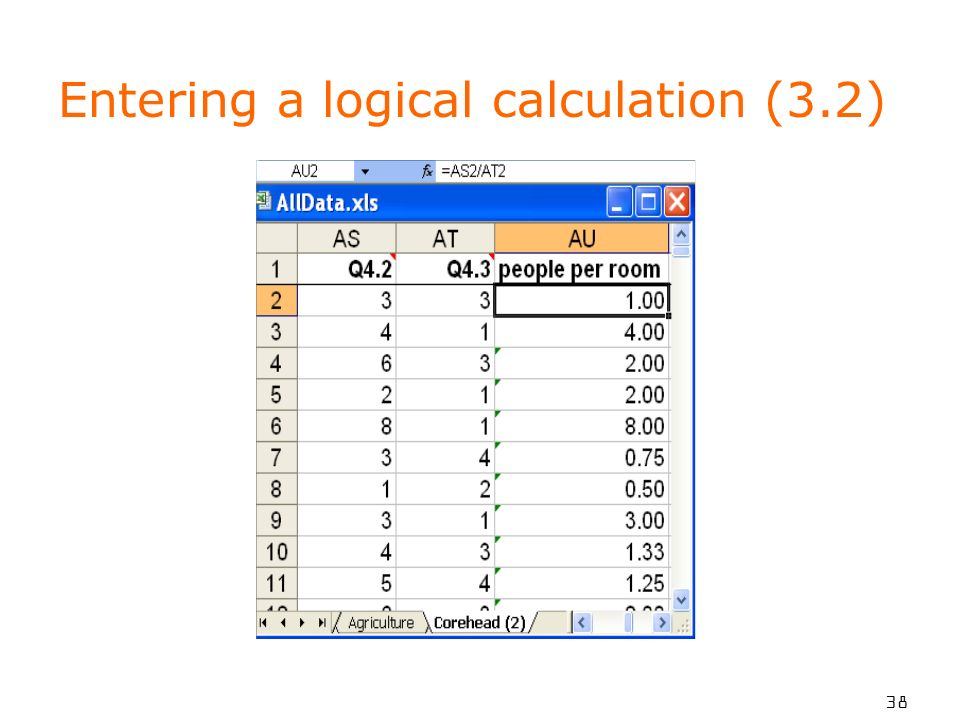 38 Entering a logical calculation (3.2)